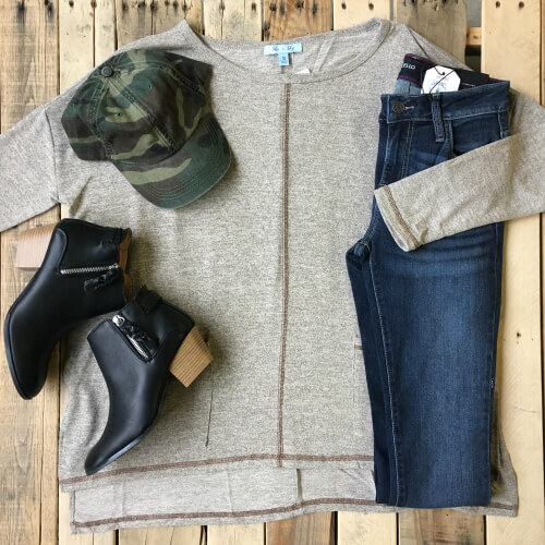 casual fall outfit idea