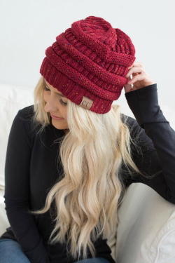 girl in red beanie