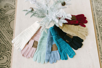 colorful winter gloves
