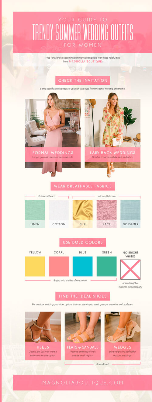 magnolia boutique your ultimate guide to summer wedding outfits for women Infographic