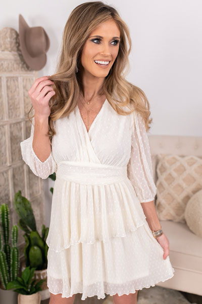 ivory tiered dress