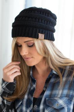 girl wearing black beanie