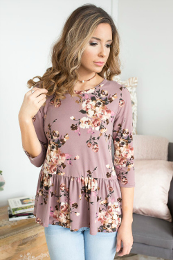 Cute floral peplum top