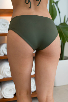 Cheeky olive green bathing suit bottoms