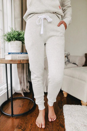 oatmeal fleece joggers