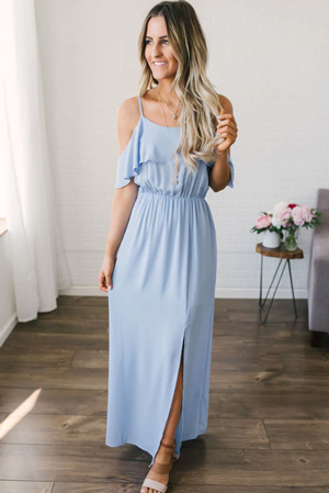 light blue maxi